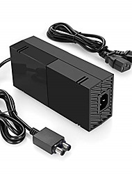 cheap -Xbox One Power Supply Charger, AC Adapter Charger with Power Cord for Xbox 1 Console, Worldwide Use For for Xbox One with Cable 100-240V Auto Voltage, Black