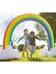 cheap -Rainbow Sprinkler Toys, Outdoor Inflatable pool Summer Fun Spray Water Toy, Rainbow Arch Lawn Beach Outdoor Toy, Outside Backyard Family Water/Birthday Party Toy for Children,adults