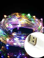 Недорогие -2 м 20 светодиодные фонари usb питание водонепроницаемый свет шнуры новый год праздник рождество свадьба день рождения семейная вечеринка цветок торт украшение