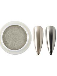 Недорогие -1 коробка ногтей твердый блеск порошок зеркало хром для уф-светодиодный гель для ногтей лак для век голографический эффект украшения маникюр