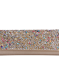 cheap -Women's Bags Polyester Evening Bag Crystals Chain Color Block Solid Color Wedding Bags Wedding Party Event / Party Black Gold