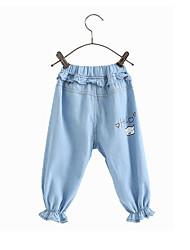 cheap -Kids Toddler Girls' Active Basic Blue Print Print Jeans Blue