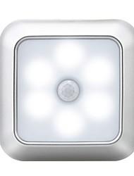 Недорогие -Квадратная Сенсорная лампа Светодиодный ночник Датчик человеческого тела Датчик тела Хэллоуин / Рождество Аккумуляторы AAA 1шт