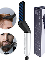 cheap -Multifunctional Hair Comb Brush Beard Straightener Hair Straighten Electric Beard Straightening Comb Quick Hair Styler For Men