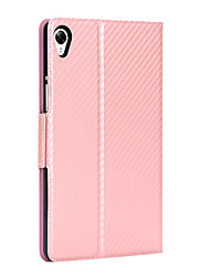"cheap -Case For Huawei Tablets MediaPad M6 8.4"" Card Holder / Shockproof Full Body Cases Solid Colored Carbon Fiber"