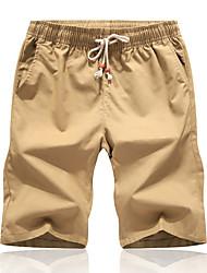 cheap -Men's Sporty Basic Going out Weekend Slim Cotton Sweatpants Shorts Pants - Solid Colored Sporty Drawstring Breathable Summer Wine White Black US32 / UK32 / EU40 / US34 / UK34 / EU42 / US36 / UK36