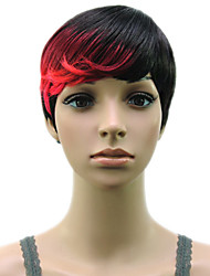 cheap -Synthetic Wig Straight Hathaway Halloween Christmas Pixie Cut Wig Short Black / Gold Pink / Purple Golden Brown White Black / Blonde Synthetic Hair 12 inch Women's Women Synthetic Sexy Lady Mixed