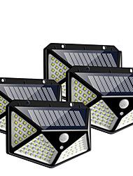 Недорогие -10 Вт 100led солнечный настенный светильник 4 шт. Солнечный датчик лампа для человеческого тела
