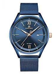 cheap -NAVIFORCE Ladies Quartz Watches Minimalist Fashion Blue Silver Brown Stainless Steel Japanese Quartz Blue Gold Silver Water Resistant / Waterproof Calendar / date / day Luminous 30 m 1 pc Analog Two