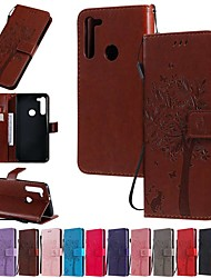 cheap -Case For Motorola MOTO E6 / MOTO E6 plus / MOTO G8PLUS Wallet / Card Holder / with Stand Full Body Cases Solid Colored / Tree PU Leather