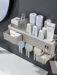 cheap -Automatic Toothpaste Dispenser Toothpaste Squeezer Wall Mount Storage Rack Toothbrush Holder With Cup Bathroom Accessories Set