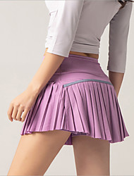 cheap -Women's Tennis Golf Skirt Butt Lift Quick Dry Breathable Sports Outdoor Autumn / Fall Spring Summer Spandex Solid Color Black Purple Pink / High Elasticity / High Rise