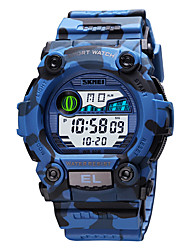 cheap -SKMEI Men's Digital Watch Digital Modern Style Sporty Camouflage Calendar / date / day Digital Black Blue Green / One Year / Silicone / Chronograph / Shock Resistant