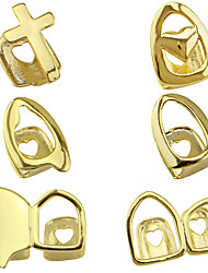 cheap -Teeth Set / Teeth Grills Statement Stylish Luxury Unisex Body Jewelry For Halloween Street Copper Rose Gold Gold Silver 1 Piece