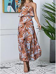 Недорогие -платье макси повседневная женская с цветочным принтом и оборками mm0741