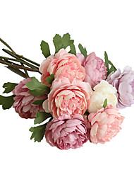 Недорогие -29 см искусственный цветок чайной розы ночь украшения дома свадьба с цветами 1 палка