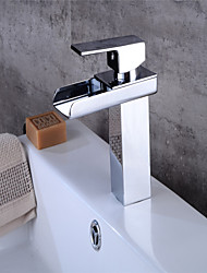 cheap -All Copper Hot And Cold Single Hole Mixing Basin Faucet Bathroom Sink Waterfall Faucet