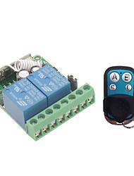 Недорогие -433 МГц беспроводной пульт дистанционного управления DC 12 В 10А 2-канальный РЧ-реле приемник и передатчик для дистанционного управления гаражным двигателем управления