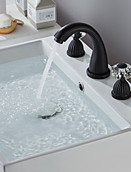 cheap -Bathroom Sink Faucet - Widespread Painted Finishes Widespread Two Handles Three HolesBath Taps