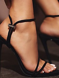 cheap -Women's Sandals Heel Sandals Summer Stiletto Heel Open Toe Daily PU Black / Yellow / Orange