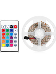 cheap -3m Flexible LED Light Strips 180 LEDs 2835 SMD 8mm 1 24Keys Remote Controller 1 set RGB Halloween Christmas Party Decorative TV Background 5 V