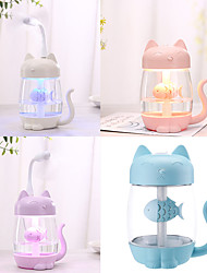 cheap -350ML USB Cat Air Humidifier Ultrasonic Cool-Mist Adorable Mini Humidifier With LED Light Mini USB Fan for Home office
