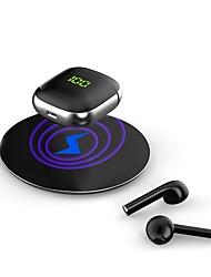 Недорогие -WK60 Pro Tws Беспроводные Bluetooth-наушники с беспроводной зарядкой светодиодный дисплей гарнитуры для смартфона