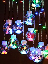 cheap -2.5m String Lights 138 LEDs Dip Led 1 set Warm White / Multi Color Halloween / Christmas Decorative / Holiday / Linkable 220-240 V