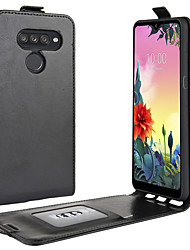 cheap -Case For LG LG Q Stylus / LG V50 ThinQ / LG V30 Card Holder / Shockproof / Flip Full Body Cases Solid Colored PU Leather