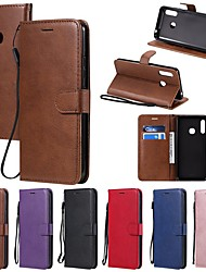 cheap -Case For Samsung Galaxy S20 Ultra / Galaxy Note 10 Plus / Galaxy A51 Wallet / Card Holder / with Stand Full Body Cases Solid Colored PU Leather For Galaxy A01/A11/A21/A41/A71/A81/A91/A70E/M31