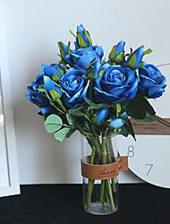 Недорогие -37 см бархат акации роза цветок моделирования свадебные принадлежности украшения дома шелковый цветок 1 палка