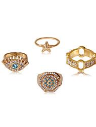 cheap -Ring Fancy Gold Rhinestone Gold Plated Alloy Star Luxury Punk Cute 1 set 10 13 / Women's