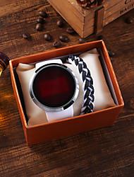 Недорогие -Муж. электронные часы Цифровой Спортивные силиконовый Белый Секундомер Новый дизайн Светодиодная лампа Цифровой Классика Мода - Белый / Нержавеющая сталь