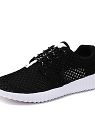 cheap -Men's Summer Sporty Athletic Trainers / Athletic Shoes Running Shoes Mesh / Elastic Fabric Non-slipping White / Black