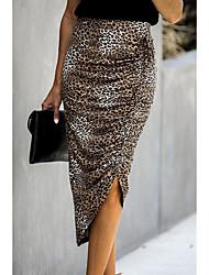 Недорогие -нерегулярная юбка с леопардовым принтом