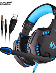 cheap -KOTION EACH G2100 Vibration Gaming Headset 2.2m Wired Headphones with Light Mic Stereo Earphones Deep Bass for PC Computer Gamer