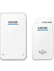 Недорогие -cacazi белый / черный дальний беспроводной дверной звонок постоянного тока на батарейках 300 м пульт 48 звонков 6 громкость светодиодный свет беспроводной домашний звонок