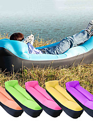 cheap -Air Sofa Inflatable Sofa Sleep lounger Air Bed Outdoor Camping Waterproof Portable Fast Inflatable Ultra Light (UL) Polyester Taffeta 190*70*35 cm for Beach Camping Outdoor All Seasons Purple Yellow