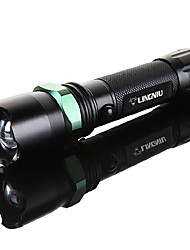 cheap -Handheld Flashlights / Torch Emitters Mini Style Camping / Hiking / Caving Black