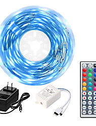 cheap -5M LED Strip Lights Kit RGB Tiktok Lights 5050 300leds 10mm 60ledsm with 44key Ir Controller and 3A Power Supply (EUAUUKUS Plug)