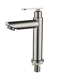 cheap -Stainless steel faucet single cold basin faucet bathroom wash basin wash basin drawstring single cold water faucet