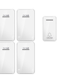 cheap -CACAZI Self-powered Wireless Doorbell Waterproof 200M Remote No Battery US EU UK AU Plug Smart House Call Bell Wireless Chime 220V