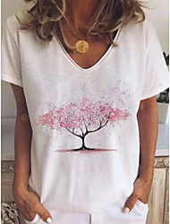 cheap -Women's Geometric Print T-shirt Daily White / Blushing Pink / Brown / Gray