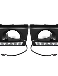 cheap -LED DRL Daytime Running Lights Lamp White Pair For Hyundai Tucson 2005-2009