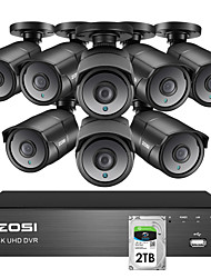 cheap -ZOSI 4K Super HD Video Surveillance CCTV System 8 CH H.265 DVR with 2TB HDD and 8 x 4K(8MP) Ip67 Weatherproof Nightvision Cameras