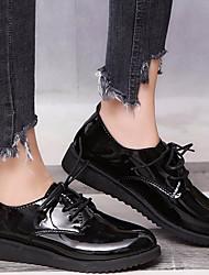 cheap -Women's Flats Fall Flat Heel Round Toe Daily Patent Leather / PU Dark Grey / Black / Yellow