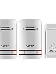 cheap -CACAZI 2 to 1 Wireless Doorbell No Need Battery LED Light Doorbell Waterproof Electronic Door Bell