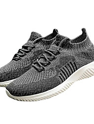 cheap -Men's Spring & Summer Sporty Athletic Trainers / Athletic Shoes Running Shoes Mesh / Elastic Fabric Non-slipping Black / Army Green / Khaki