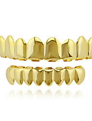 cheap -Teeth Set / Teeth Grills Statement Stylish Luxury Unisex Body Jewelry For Halloween Street Synthetic Diamond Copper Rose Gold Gold Silver