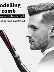 cheap -Multifunctional Hair Comb Brush Quick Beard Straightener Curling Curler Show Cap Men Beauty Hair Styling Tool Dropshipping